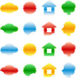 Set of color labels, sticker, Royalty Free Stock Images
