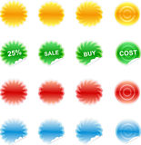 Set of color labels, sticker, Royalty Free Stock Photos