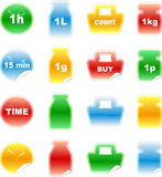 Set of color labels, sticker, Royalty Free Stock Image