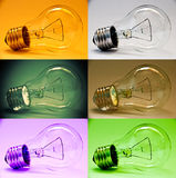 Set of color lamp Stock Photography