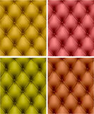 Set of color leather upholstery. Royalty Free Stock Photo