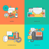 Set of color line icons for web page design Royalty Free Stock Photo