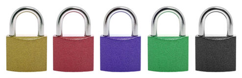 Set color lock Royalty Free Stock Photography