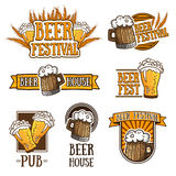 Set of color logos, icons, signs, badges, labels Royalty Free Stock Images