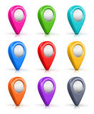 Set of color map location markers Royalty Free Stock Image