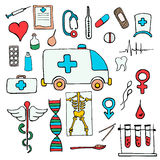 Set color medical symbols and signs Stock Image