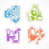 Set of color medicines symbols Stock Photography