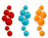 Set of color Merry Christmas  baubles Stock Photo