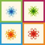 Set color molecule creative design pattern eps Stock Image