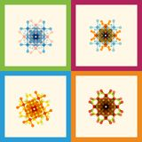Set color molecule creative design pattern eps Royalty Free Stock Images