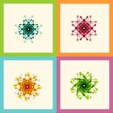 Set color molecule creative design pattern eps Stock Images
