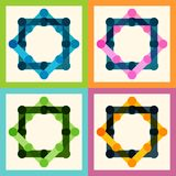 Set color molecule and technology pattern eps Royalty Free Stock Images