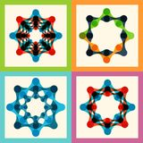 Set color molecule and technology pattern eps Stock Photo