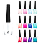 Set of color nail polish Stock Image