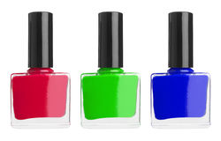 Set of color nail polish Royalty Free Stock Photos