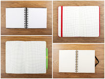 Set of color open notebook Stock Photos