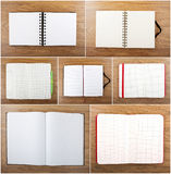 Set of color open notebook Royalty Free Stock Images