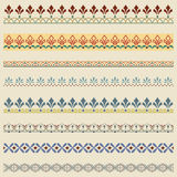 Set of color ornate borders. Pattern brushes are included Stock Images