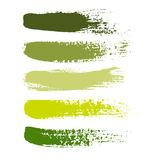 Set of color paint, ink brush strokes, brushes, lines. Royalty Free Stock Photos