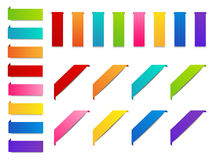 Set of color paper ribbons Stock Photo