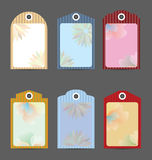 Set of Color Paper Tags Template Royalty Free Stock Photography