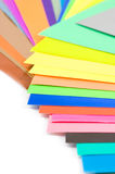 Set of color papers Stock Image
