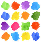Set of color patches on white Royalty Free Stock Images