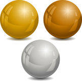 Set of color pearl Stock Image
