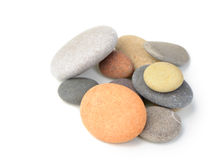 Set of a color pebble Stock Image