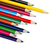 Set of color pencil Royalty Free Stock Images