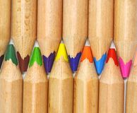Set of color pencil Stock Photos