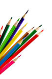 Set of color pencil crayons Royalty Free Stock Photo