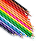 Set of color pencil isolated on white Stock Images