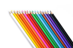 Set of color pencil on white. Background royalty free stock photo