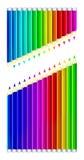 Set of color pencils Stock Photo