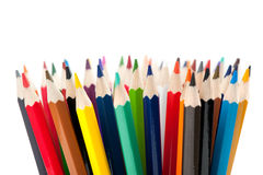 Set of color pencils Stock Photo