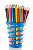 Set of color pencils. Royalty Free Stock Photos