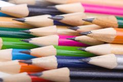 Set of color pencils royalty free stock photos