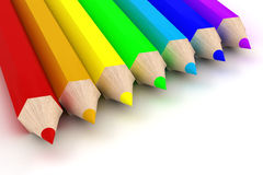 Set of color pencils. Stock Photos