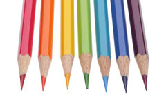 Set of color pencils Stock Image