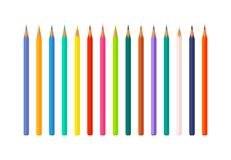 Set of Color Pencils Vector Illustration isolated Royalty Free Stock Image