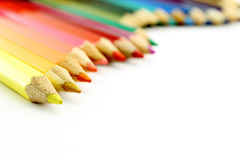 Set of color pencils wavy form Stock Photography