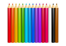 Set of color pencils Stock Photography