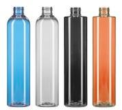 Set of color plastic cane bottles Stock Images
