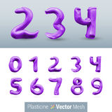 Set of Color Plasticine Figure Stock Images