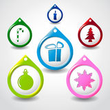 Set of color pointers. Christmas theme theme royalty free illustration