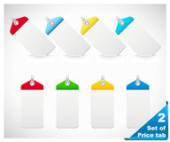 Set of color price tags Royalty Free Stock Photo