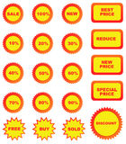 Set of color price tags Stock Photo