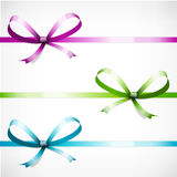 Set color ribbon with bow  Stock Photography