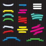Set of Color Ribbons. For design. Vector Illustration Royalty Free Stock Photo